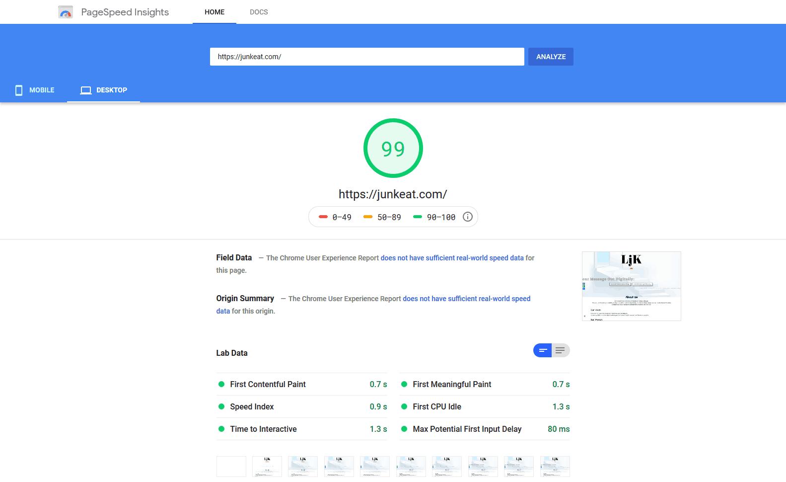 Low-Cost Premium Web Design Agency Cheras - Google Page Speed - LjK Digital Empire