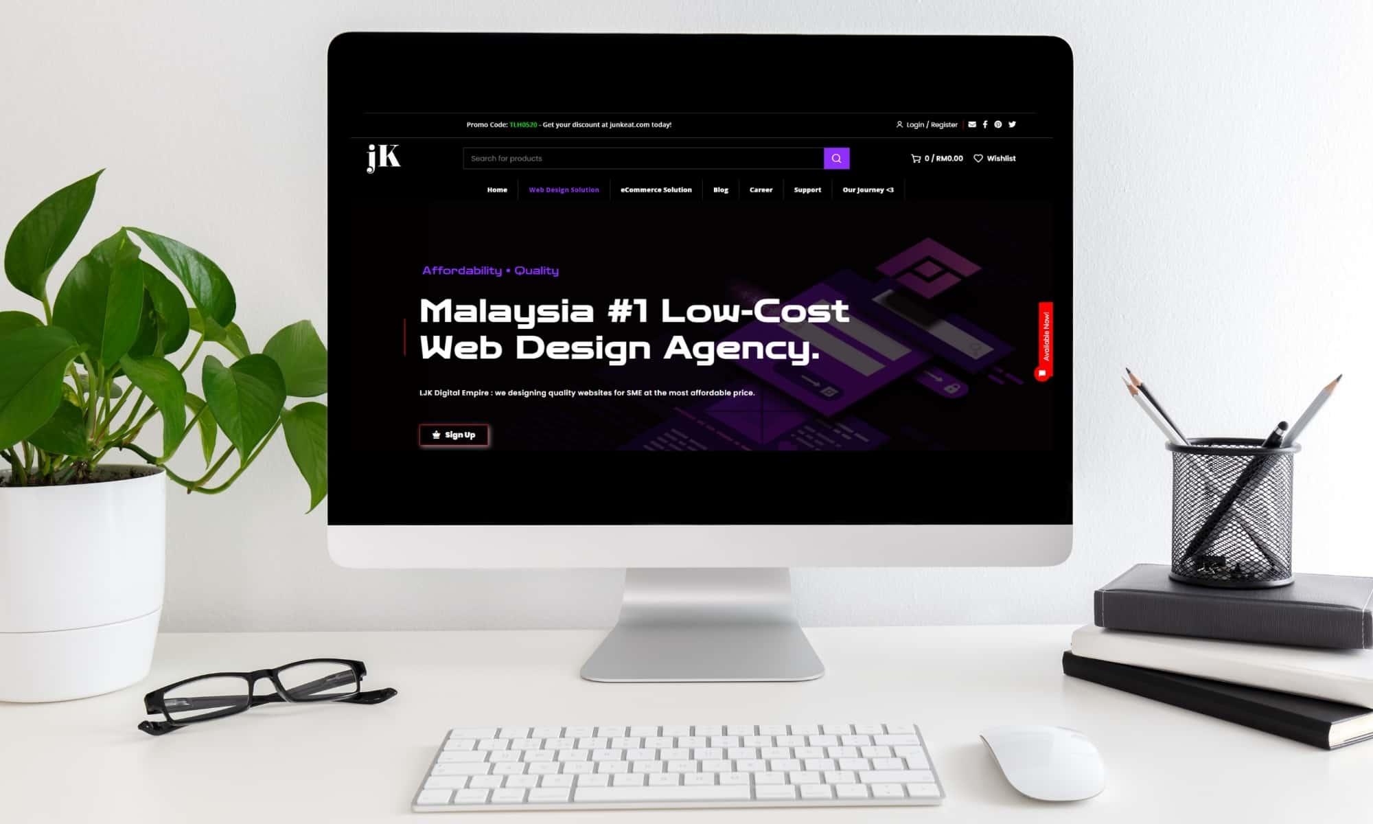LJK Digital Empire - Low-Cost Web Design Agency Cheras - SEO 1
